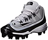 NIKE Boy's Huarache 2KFilth Pro (GS) Baseball Cleat Grey/Anthracite/White/Black Size 1.5 M US