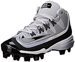 Nike Boy's Huarache 2kfilth Pro (Gs) Baseball Cleat Greyanthracitewhiteblack Size 5 M Us