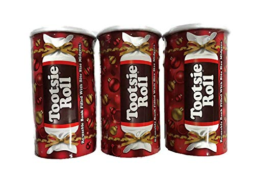 Colorful Tootsie Roll Bank, 4-Ounce Boxes ( Pack of 3 ) ()