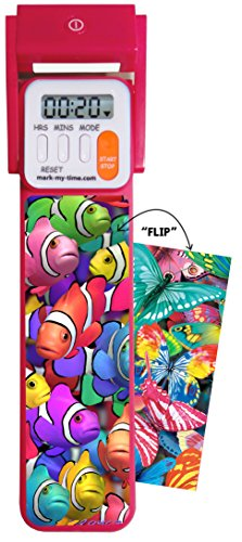 "Mark-My-Time 3D ""FLIP"" Clownfish/Butterfly Digital LED Booklight Reading Timer and Bookmark -"
