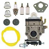 NIMTEK Carburetor with Repower Tune-Up Kit 300486 for Tiller MD43 WE43 WE43CE WE43E Edger Earthquake E43 E43WC E43CE Auger MC43 MC43E MC43CE MC43RCE MC43ECE Carb