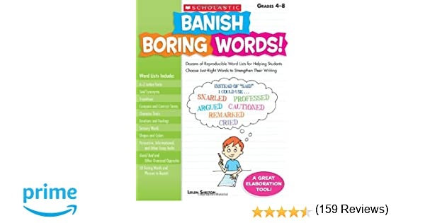 Amazon.com: Banish Boring Words!: Dozens of Reproducible Word ...