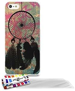 """Carcasa Flexible Ultra-Slim APPLE IPHONE 5S / IPHONE SE de exclusivo motivo [Dreamcatcher] [Blanca] de MUZZANO  + 3 Pelliculas de Pantalla """"UltraClear"""" + ESTILETE y PAÑO MUZZANO REGALADOS - La Protección Antigolpes ULTIMA, ELEGANTE Y DURADERA para su APPLE IPHONE 5S / IPHONE SE"""