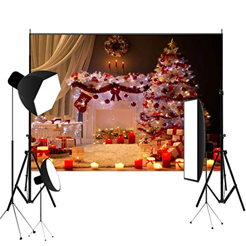 Price comparison product image 5x7ft Christmas Tree and Gifts Photography Background Cloth Photo Studio Prop
