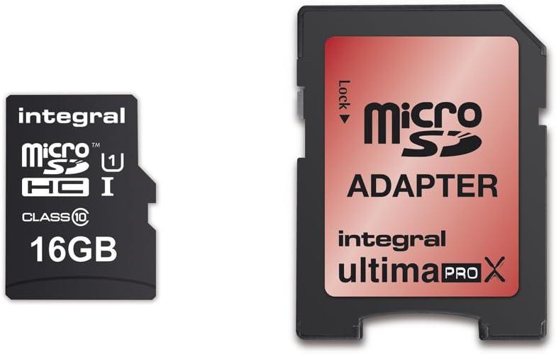 carte sdhc 16 go Integral Europe INMSDH16G10 90/45U1 Carte mémoire Micro SDHC