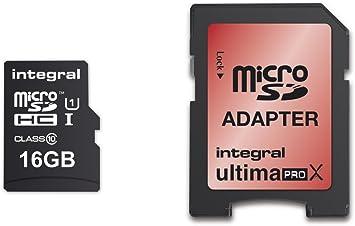 carte sdhc 16 go Integral Europe INMSDH16G10 90/45U1 Carte mémoire Micro