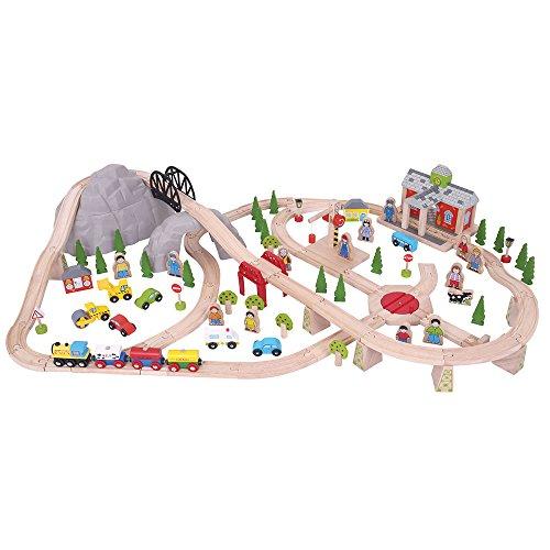 Mountain Railway Set - Bigjigs Rail Wooden Mountain Railway Set - 112 Play Pieces