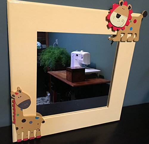Nursery Room Wall Mirror - Giraffes and Lions by Shore Crafts