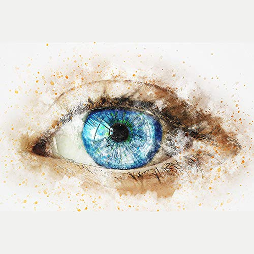 Woman Eyes?5D Diamond Painting Embroidery Diy Paint-By-Diamond Kit Home Wall Decor 9.8X11.8 Inch(Frameless) -