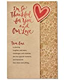 American Greetings Romantic Thank You Card (True Love)
