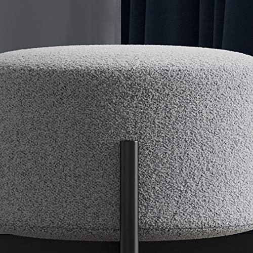 Ménage Unique en Fer Forgé Chaise De Maquillage Couloir Tabouret De Pied Salon Canapé Tabouret Daim Confortable 1107S