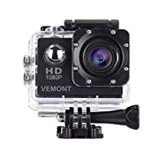 VEMONT Full HD 2.0 Inch Action Camera 1080P 12MP Sports Camera Action Cam Underwater 30m/98ft Waterproof Camera and…