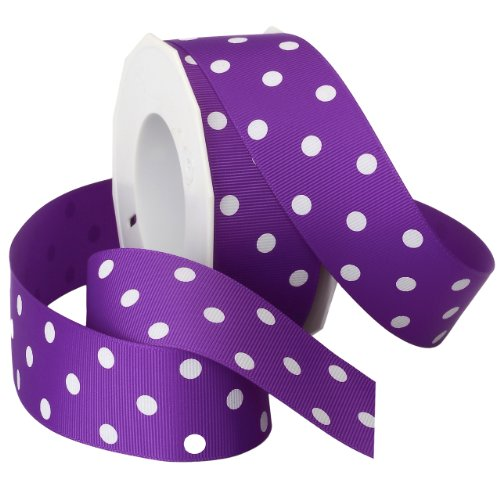 Morex Grosgrain Dot Ribbon, 1-1/2-Inch by 20-Yard Spool,