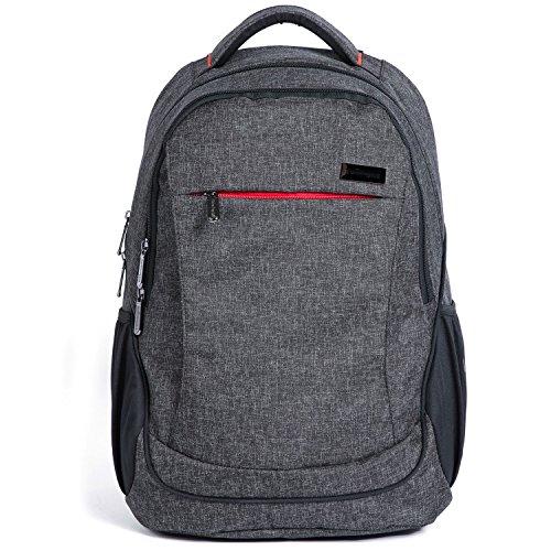 Abonnyc mochila para cambiar pañales (gran capacidad bebé bolsa de pañales con aislamiento bolsa negro negro negro