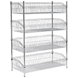 (4) Basket Wire Shelf, 36''W x 18''D x 63''H