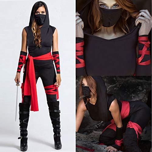 Plus Size Deluxe Ninja Costumes - Shan-S Women's Halloween Cosplay Ninja Deluxe