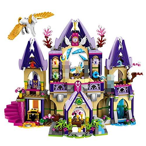 Aquaman Store Blocks - Compatible with legoings Elves 41708 Skyra's Mysterious Sky Castle Model Building Kit Mini Blocks Brick Toys fot Children 1 PCs