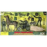 World Peacekeepers Military Horse + Bike + 3 Figures + Accessories by World Peacekeepers