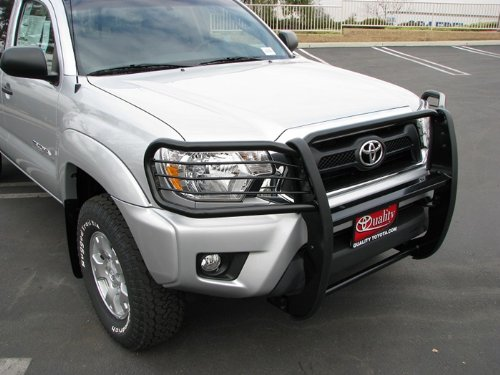 MaxMate Premium Black Grille Bumper Brush Guard Bull Bar #T75198 Custom Fit 05-15 Toyota Tacoma (Factory Skid Plate Need To Be Remove If Equipped) ()