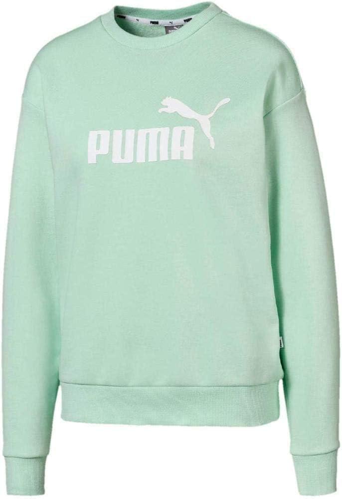 PUMA Damen Shirts Essential Logo Crew Sweatshirt Mint