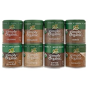 Indian Spices Set From Simply Organic with 8 Spices 516gomL8gkL