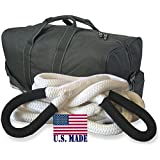BILLET4X4 U.S. made KINETIC RECOVERY ROPE (MEGA) - 1-1/2 inch X 30 ft (Snatch Rope) with Heavy-Duty Carry Bag (4X4 VEHICLE RECOVERY)