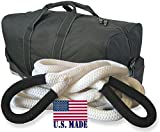 U.S. made KINETIC RECOVERY ROPE (MEGA) - 1-1/4 inch X 30 ft (Snatch Rope) with Heavy-Duty Carry Bag (4X4 VEHICLE RECOVERY)