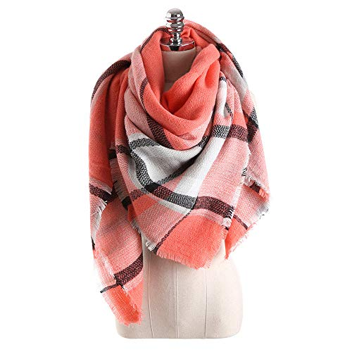Women's Spring Winter Lightweight Scarf Fashion Jacquard Cotton