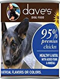 Dave's Premium Chicken 95% Meat For Dogs, 13 oz Can (Case of 12)