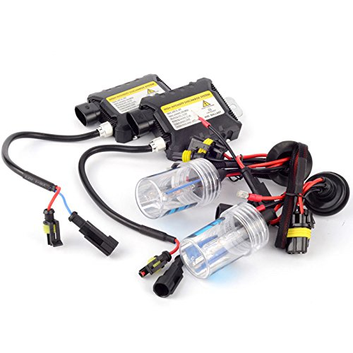 MeiBoAll HID Xenon Replacement Bulbs Headlight Bulb High Intensity Discharge Lamp System Xenon HID Headlights Kits 55W H7 30000k (Systems Xenon)