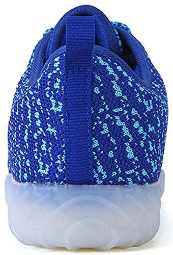 Women Light Luminous Sprot Shoes colorful 7 USB Colors Leisure Charging Glowing Blue Shoes Unisex amp; Joansam LED Sneakers Men qSHRaq8wT