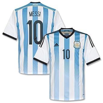 Adidas Argentina Home Camiseta 2014 2015 + Messi 10 – Boys Weiss/Blau Talla: