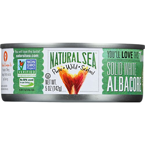 Natural Sea Tuna - White Albacore - Salted - 5 oz - case of 12 - Sea Albacore