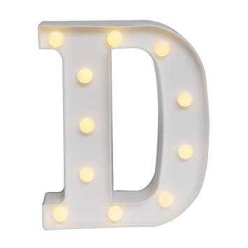 delicore led marquee letter lights alphabet light up sign for wedding home party bar decoration d - Marquee Letter Lights