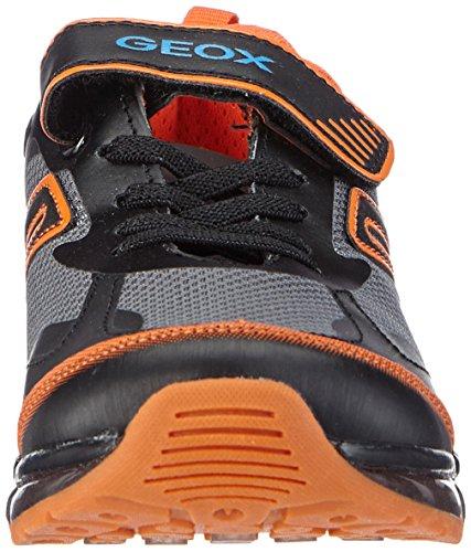 Geox J Android Boy B, Zapatillas Para Niños Varios Colores (Black C0038 / Orange)