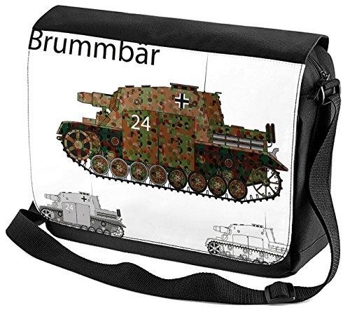 Umhänge Schulter Tasche Retro Motiv Panzer SdKfz. 166 bedruckt KhhGZj