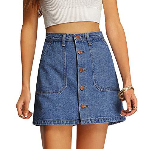 Yudesun Minirock Kurz Röcke Frauen Damen Hoch Taille A