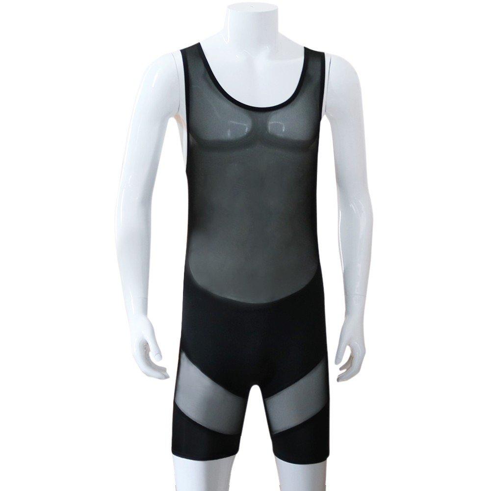 yizyif homme noir body lingerie transparent maillot de bain maille sous v tements millot de. Black Bedroom Furniture Sets. Home Design Ideas