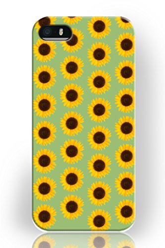 Iphone 5 Case Hard Plastic Snap on Slim Fit Iphone 5s Cover Happy Little Sunflower