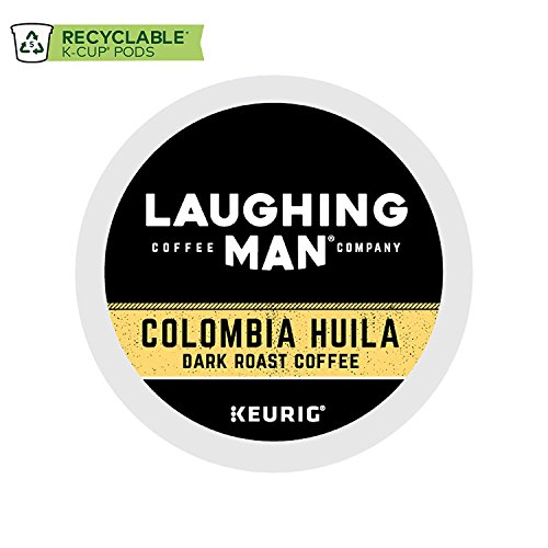 Laughing Man Colombia Huila Coffee Keurig K-Cups, 96 Count