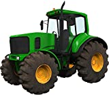 """6"""" Green Farm Tractor #1 Wall Sticker Decal Graphic Art Childrens Toy Play Room Heavy Machinery Outdoors Game Man Cave Bedroom Office Living Room Decor NEW"""