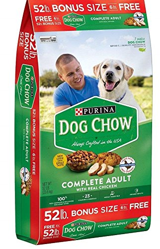 Purina Dog Chow Complete Adult Dog Food (1 - 52 lb. Bag + Toy)