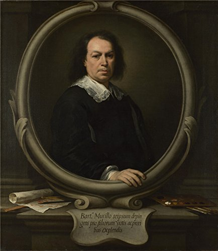 bartolom-esteban-murillo-self-portrait-oil-painting-16-x-18-inch-41-x-47-cm-printed-on-polyster-canv