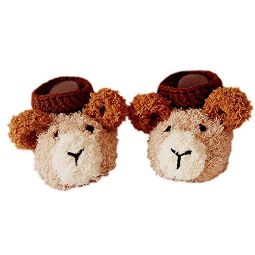 Bébé Lovely Crochet Fait Main Souple Chaussures chaude hiver chaussettes Coffret cadeau 11cm