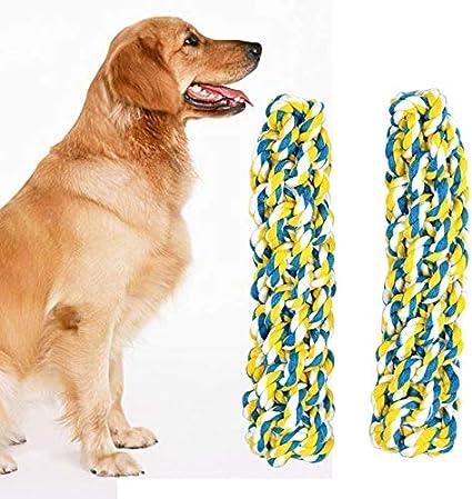 Not applicable Juguetes para Mascotas La Cuerda del Perro del tirón del Perrito del Animal doméstico del Juguete del Chew Trenzado for el Entrenamiento del Perro casero Cebo Juguete, 20cm, 2 PCS