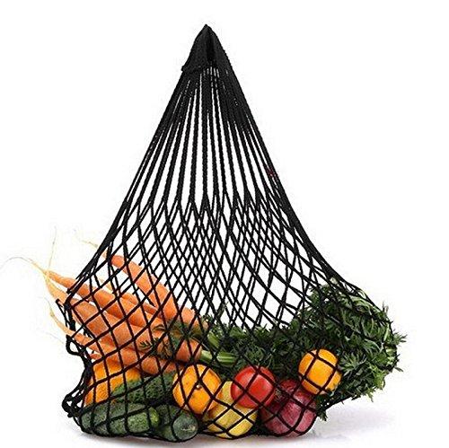Sabel de Fruta Verdura Compras Libre Malla Portátil Bolso Las IR del La Almacenamiento Compras Aire de Verde Totalizador al Negro Embalaje de Reutilizable para rfr1xOR