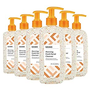 Solimo Morning Facial Cleanser with Vitamin C & Ginseng, 8 Fluid Ounce (Pack of 6)