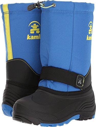 Kamik Boys' Rocket Snow Boot, Blue/Sulfur, 13 Medium US Little Kid ()