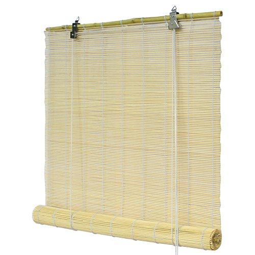 Flairdeco 3704160-16017 Bambusrollo, 160 x 160 cm, natur