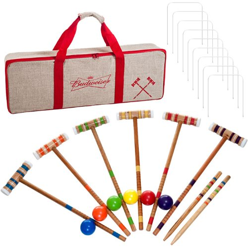 Budweiser Croquet Set with Deluxe Carrying Case - Officially Licensed! by TMG